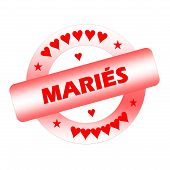 Just married french stamp