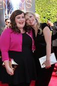 LOS ANGELES - AUG 16:  Aidy Bryant, Kate McKinnon at the 2014 Creative Emmy Awards - Arrivals at Nok