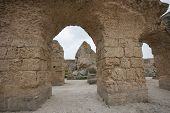Archs at Antonine Thermae; Tunis; Tunisia