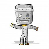 cartoon funny old robot