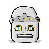 cartoon robot head