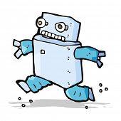 cartoon running robot
