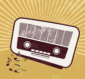 Retro music background - old radio