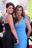 LOS ANGELES - AUG 16:  Katherine Schwarzenegger, Maria Shriver at the 2014 Creative Emmy Awards - Arrivals at Nokia Theater on August 16, 2014 in Los Angeles, CA