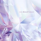 Abstract modern diamond geometric vector background