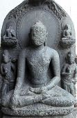 KOLKATA, INDIA - NOV 24: Buddha, from 10th century found in Bihar now exposed in the Indian Museum i