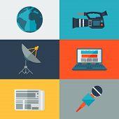 Set of journalism icons.