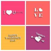 Valentines Day  emblem set