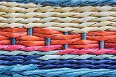 Colorful Wicker Basket Detail