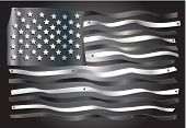 American flag digitally fabricated in tin
