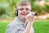Singing Handicapped Boy.
