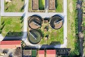 pic of sewage  - aerial view of Giannitsa city sewage treatment plant - JPG