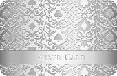 Luxury Silver Card With Card Symbols Ornament