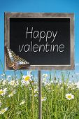 Chalkboard With Text Happy Valentine