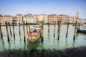 Gondola Dock In Venice