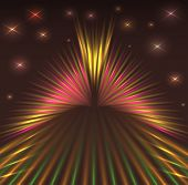 Laser Abstract Background With Stars.