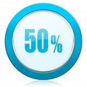 50 percent icon sale sign