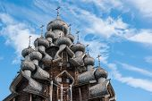 Domes Of Wooden Church In Kizhi