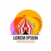 circus vector logo design template. carousel or fair icon.