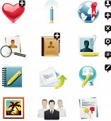 stock photo of people icon  - Social networking related icons for homepage - JPG
