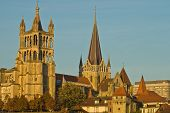 Cathedral and old town of Lausanne