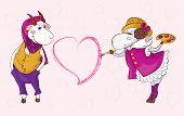 Goat Sheep Valentine