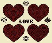 Vector Valentine's Day Design Elements