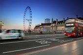 London city at night, England United Kingdom