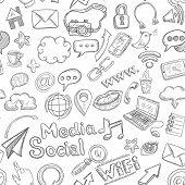 Social Seamless Doodle