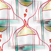 Mural background seamless  pattern hourglass texture