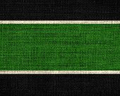 green and black burlap jute fabric textured background