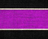 magenta and black burlap jute fabric textured background