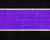 purple and black burlap jute fabric textured background