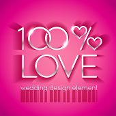 Bright pink wedding design element