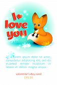 Valentine's Day card with a fox