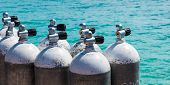 Diving Air Bottle In Santa Maria Beach In Sal Cape Verde - Cabo Verde