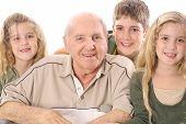 Great Grandchildren and Grandpa upclose