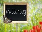 Chalkboard With German Text Muttertag