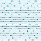 Arrow abstract pattern, vector illustration