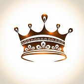 picture of beauty pageant  - Floral design decorated beautiful crown on shiny background - JPG