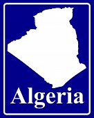 Silhouette Map Of Algeria