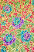 picture of batik  - The flower Batik Thai traditional background style - JPG