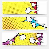 Pop Art Comic Book Yellow Header Collection