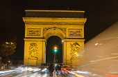 Arch of Triumph of the Star (Arc de Triomphe de l'Etoile) in Paris (France)