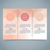 Tri-fold Geometrical Brochure Abstract Template