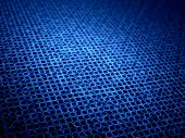 picture of graphene  - Blue glowing microlenses in mesh computer generated abstract background - JPG