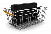 Shopping Basket and Piano (clipping path included)