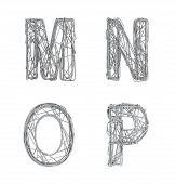Alphabet M N O P