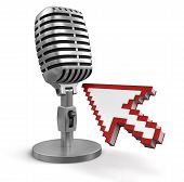 Cursor and Microphone (clipping path included)