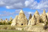 pic of chimney rock  - Picturesque landscape with Fairy chimneys - JPG